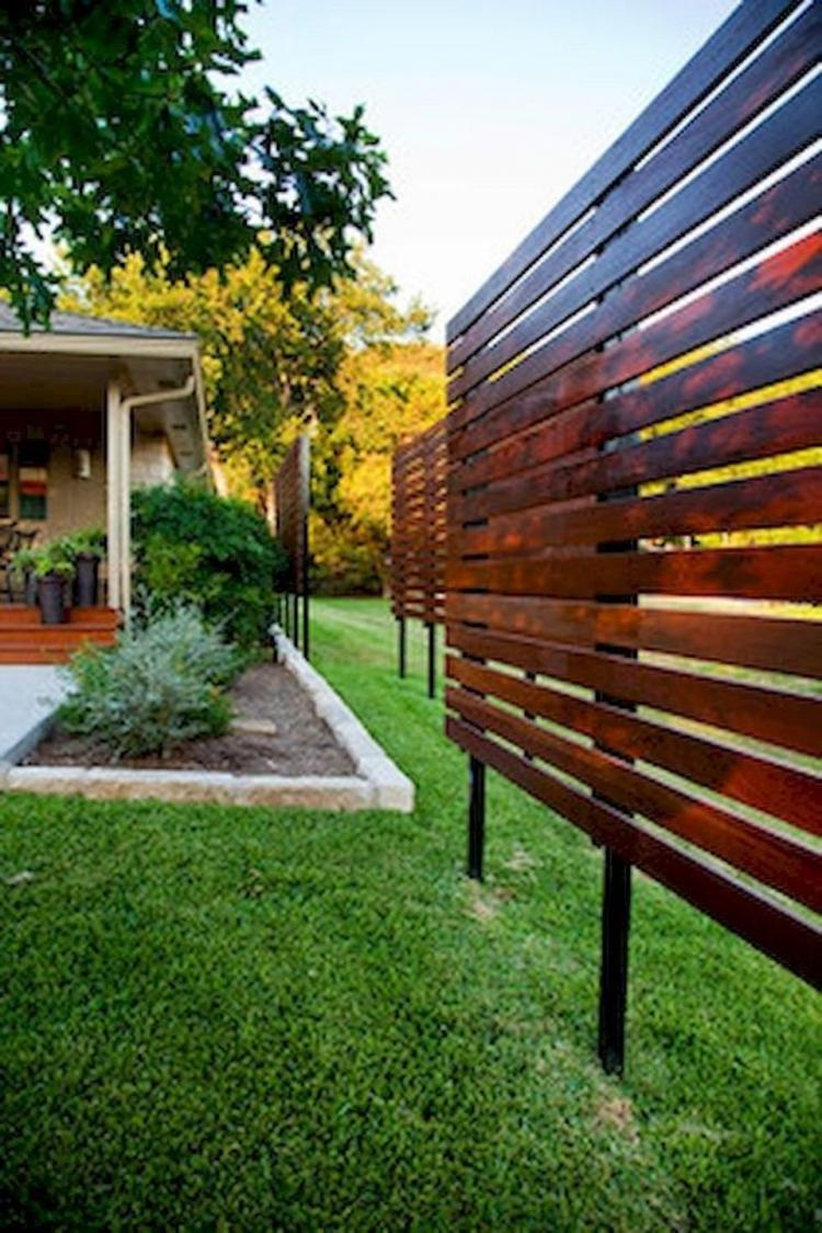 85+ GREAT BACKYARD WOODEN PRIVACY FENCE DESIGN IDEAS ...