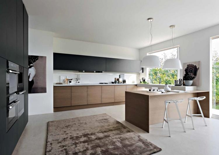 30 Rousing Black White Wood Kitchens Ideas