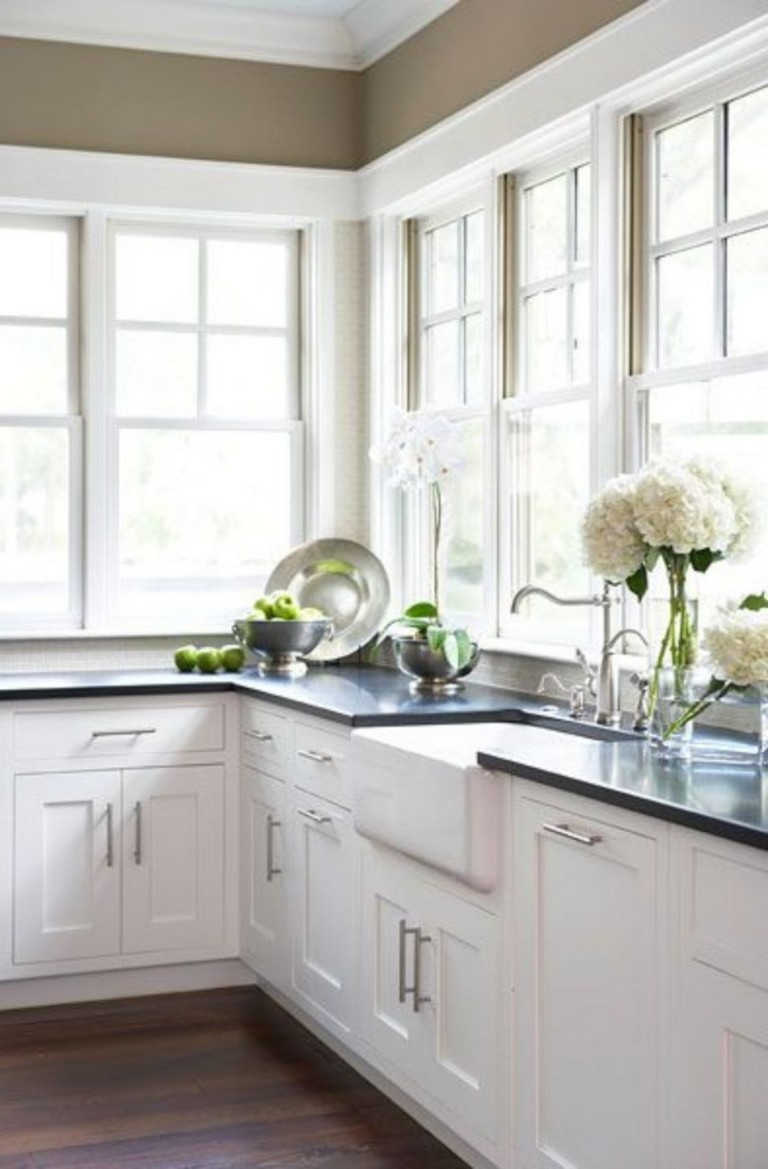 70 Stunning Kitchen Light Cabinets with Dark Countertops ...