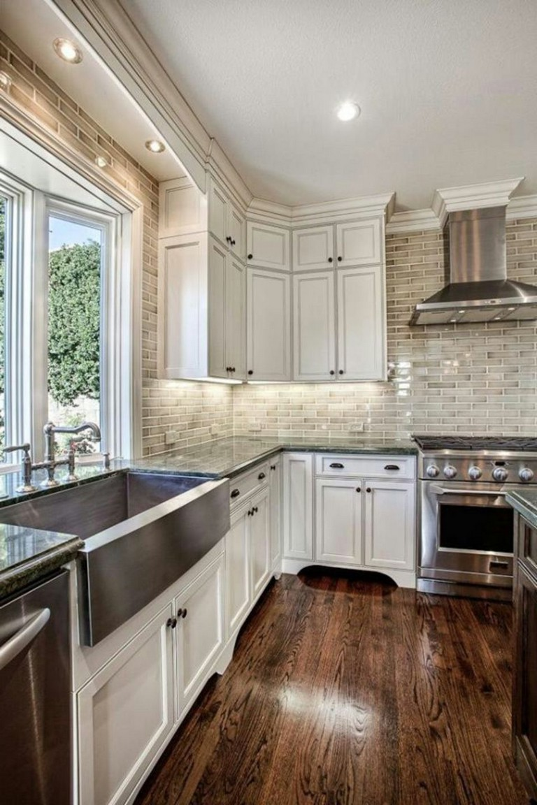 10 Stunning Kitchen Light Cabinets with Dark Countertops Design